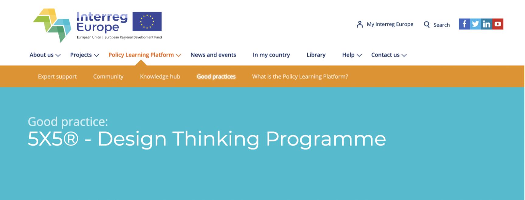 5X5 logo design thinking programma