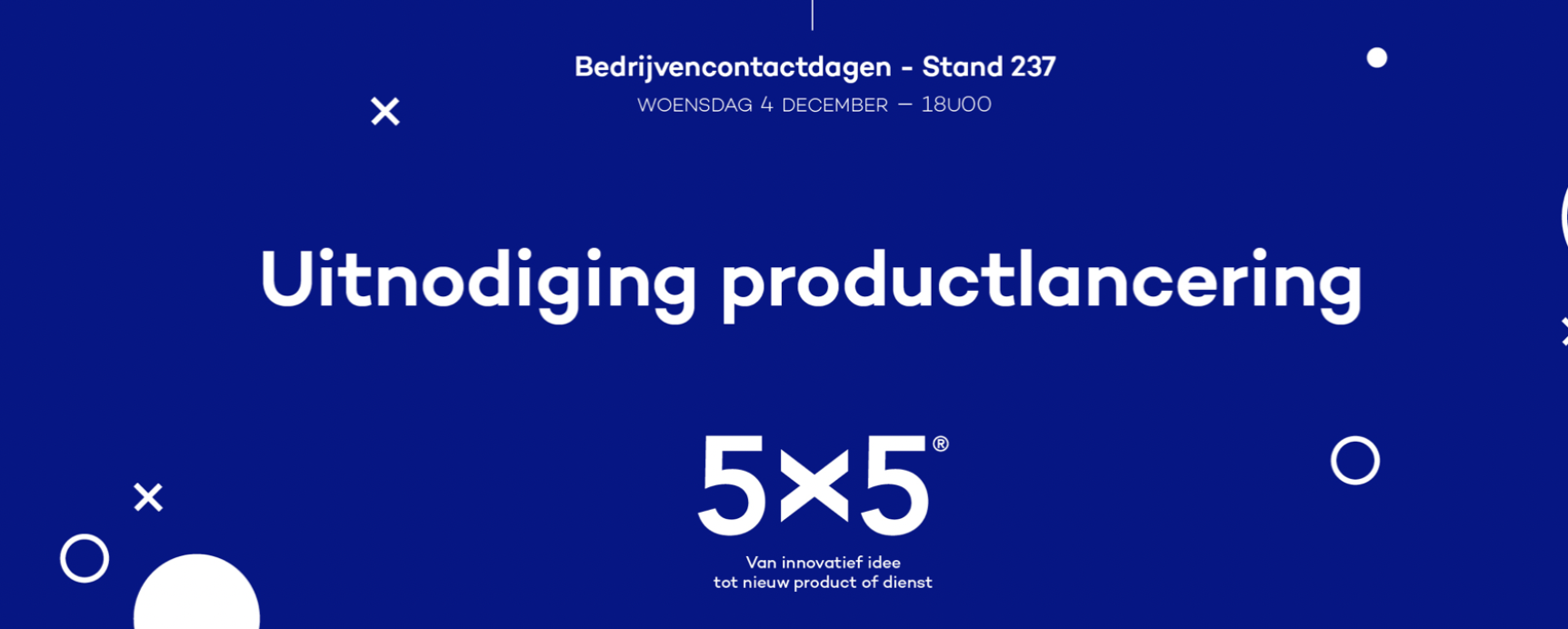Uitnodiging 5x5 2019 innovatietraject productlancering