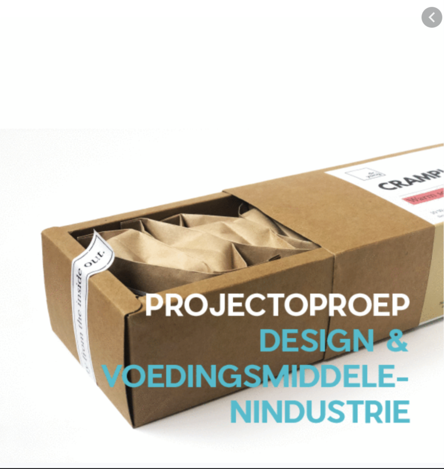 Projectoproep design voedingsmiddelenindustrie