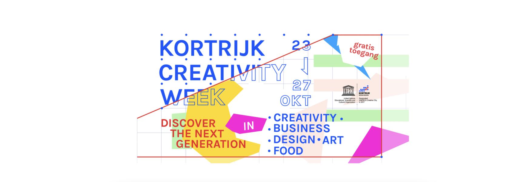 Kortrijk Creativity week we are the next generation 2019