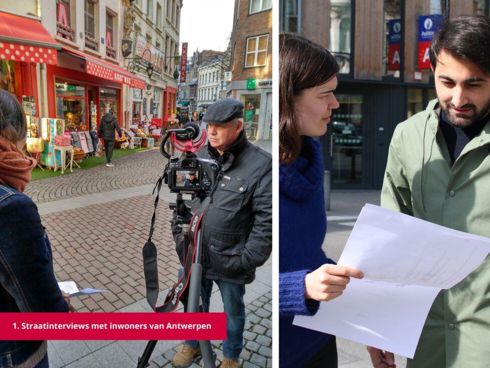 1 Straatinterviews met inwoners van Antwerpen
